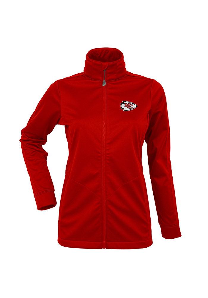 Antigua Kansas City Chiefs Womens Red Golf Heavy Weight Jacket - Image 1