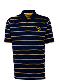 West Virginia Mountaineers Antigua Deluxe Polo Shirt - Navy Blue