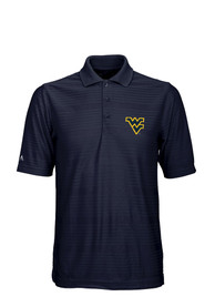 West Virginia Mountaineers Antigua Illusion Polo Shirt - Navy Blue