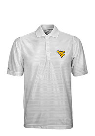 West Virginia Mountaineers Antigua Illusion Polo Shirt - White