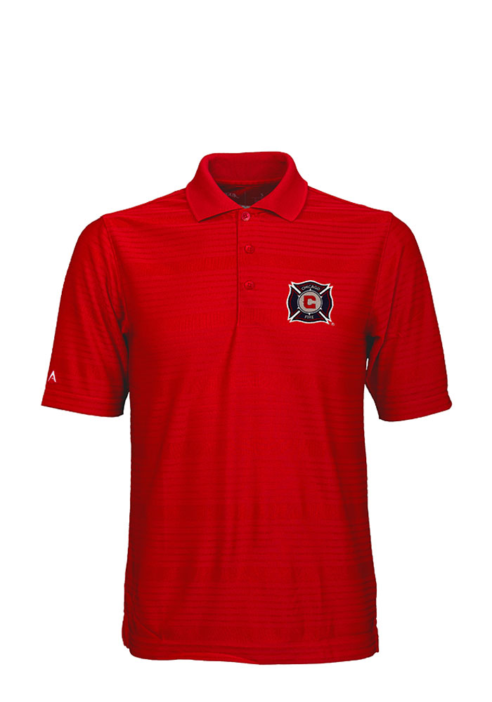 Chicago Fire Antigua Illusion Polo Shirt - Red
