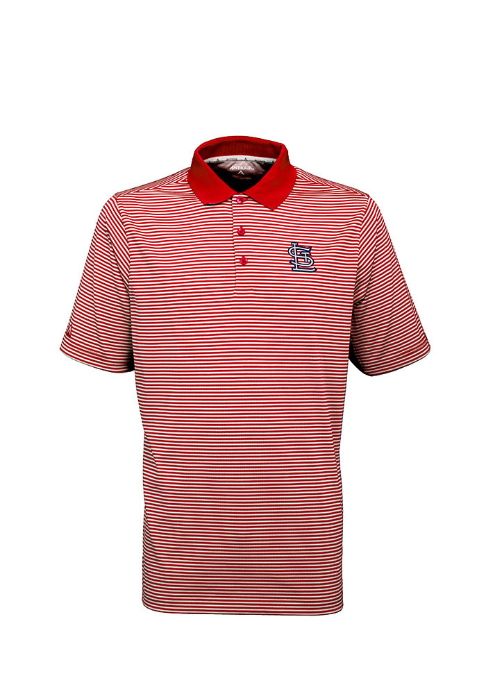 Antigua St Louis Cardinals Mens Red Major Short Sleeve Polo - Image 1