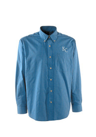 Kansas City Royals Antigua Achieve Dress Shirt - Blue
