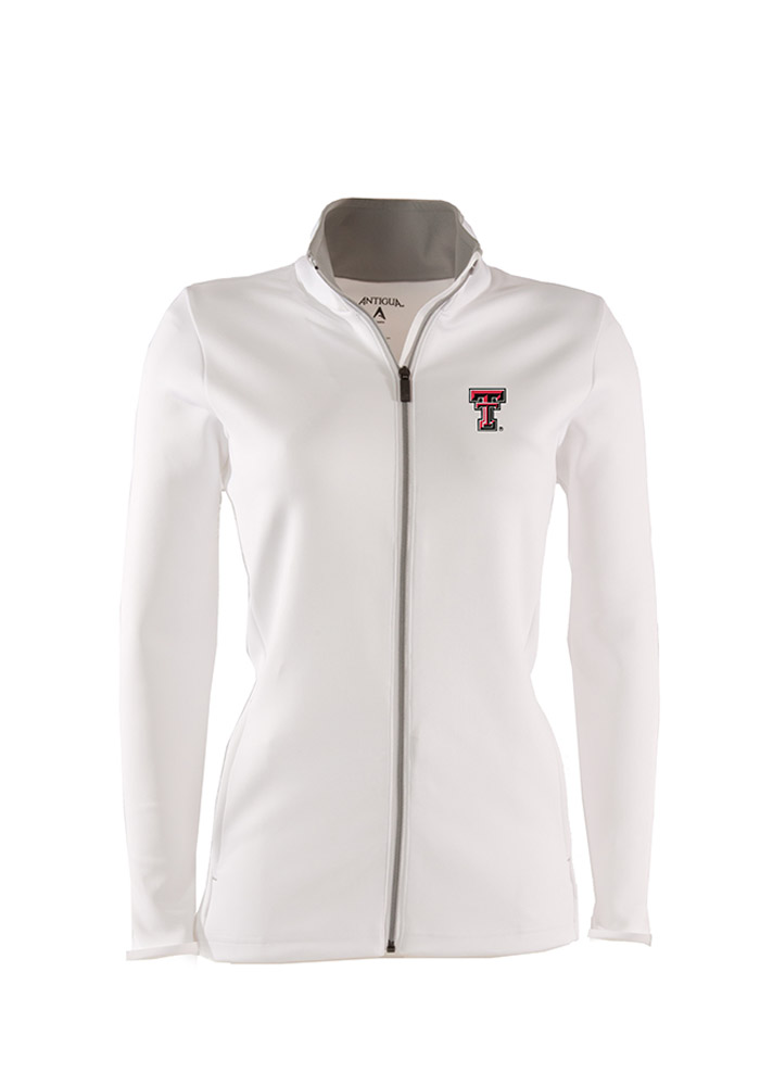 Antigua Texas Tech Red Raiders Womens White Leader Light Weight Jacket - Image 1