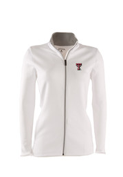 Antigua TTech Red Raiders Womens white Leader Light Weight Jacket