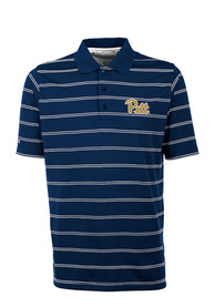 Pitt Panthers Antigua Deluxe Polo Shirt - Navy Blue