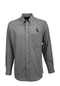 Antigua Chicago White Sox Black Associate Dress Shirt