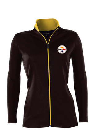 Antigua Pitt Steelers Womens Black Leader Light Weight Jacket