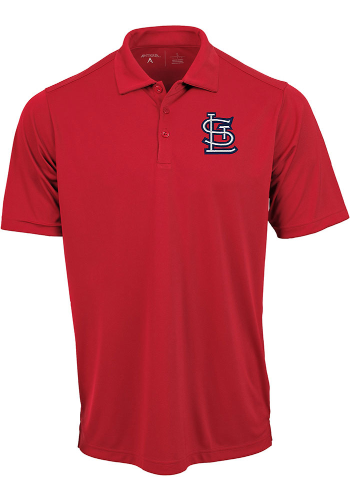 Antigua St Louis Cardinals Mens Red Tribute Short Sleeve Polo - Image 1