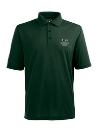 Antigua Cleveland State Vikings Green Pique Short Sleeve Polo Shirt
