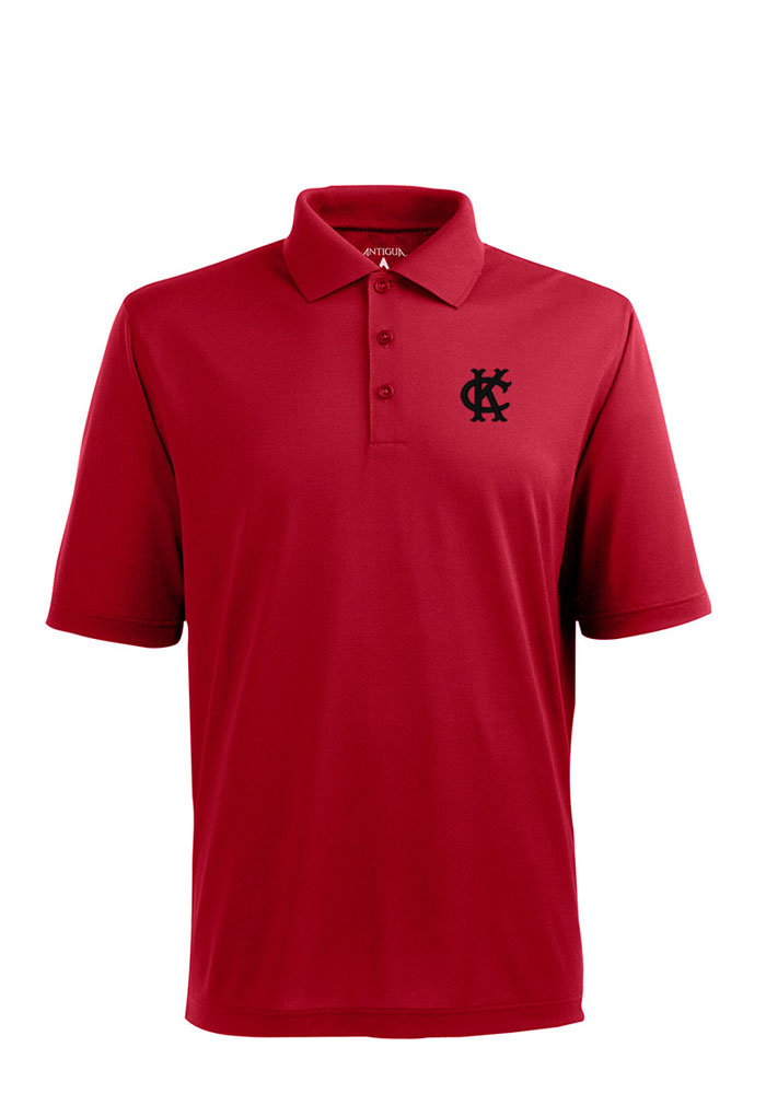 Antigua Kansas City Monarchs Mens Red Pique Short Sleeve Polo - Image 1