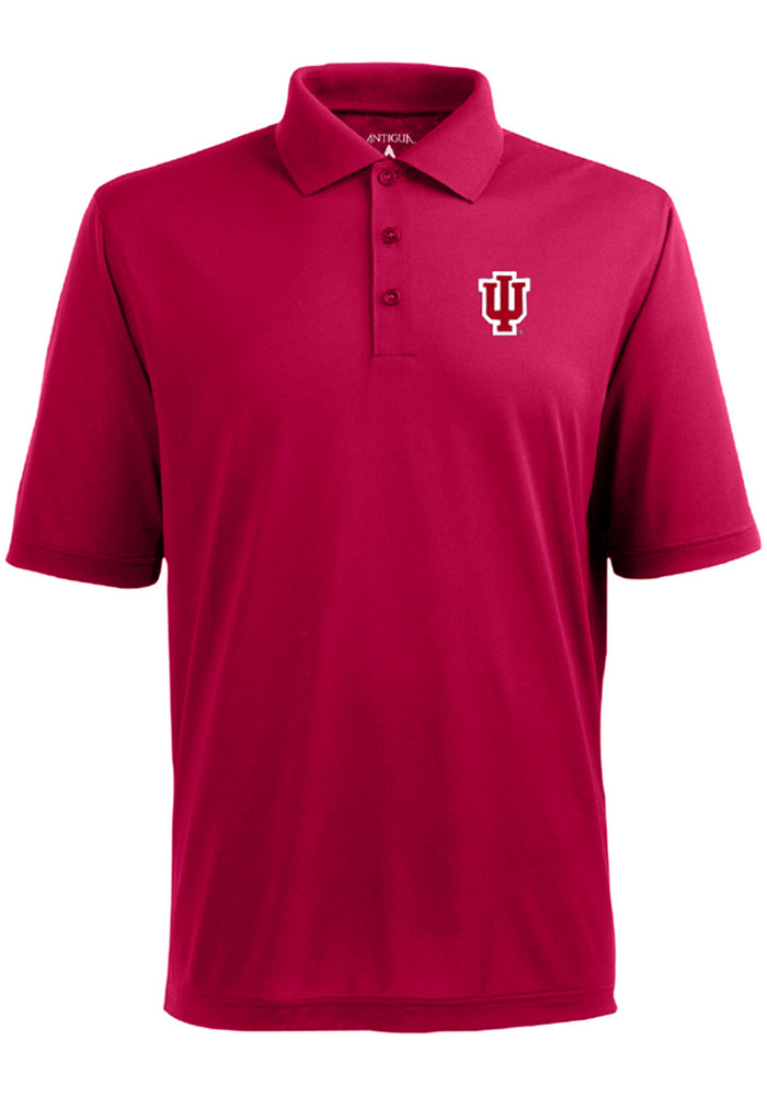 Antigua Indiana Hoosiers Mens Red XTra Lite Short Sleeve Polo - Image 1