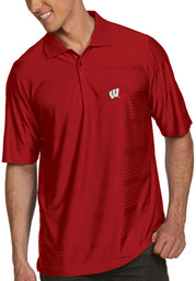 Wisconsin Badgers Antigua Illusion Polo Shirt - Red