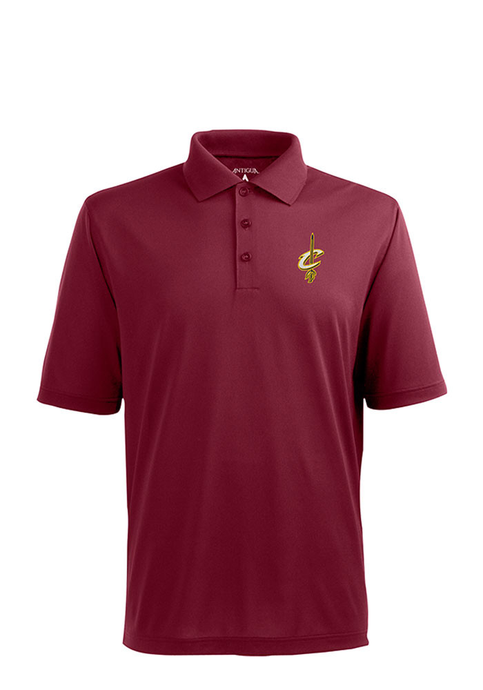 Antigua Cleveland Cavaliers Mens Red Pique Short Sleeve Polo - Image 1