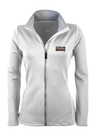 Antigua Cleveland Browns Womens White Leader Light Weight Jacket