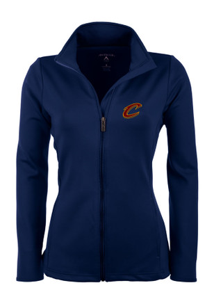 Antigua Cleveland Cavaliers Womens Navy Blue Leader Light Weight Jacket