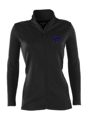Antigua K-State Wildcats Womens Black Leader Light Weight Jacket