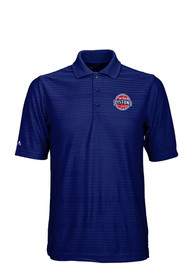 Antigua Detroit Pistons Blue Illusion Short Sleeve Polo Shirt