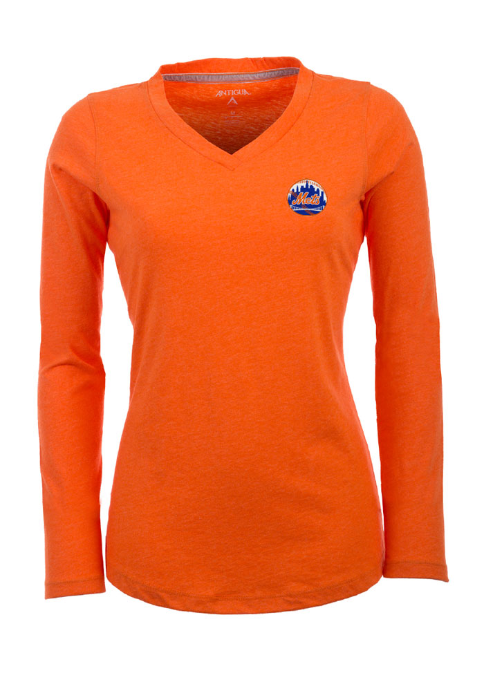 Antigua New York Mets Womens Pink Flip Women's V-Neck