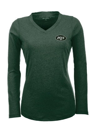 Antigua New York Womens Green Flip Women's V-Neck