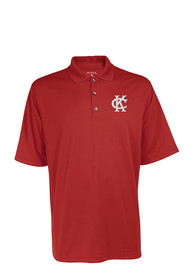 Antigua Kansas City Monarchs Red Exceed Short Sleeve Polo Shirt