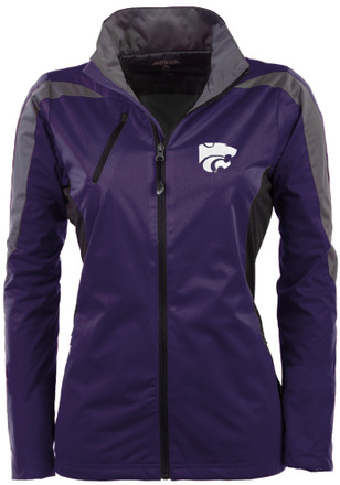 Antigua K-State Wildcats Womens Purple Discover Light Weight Jacket