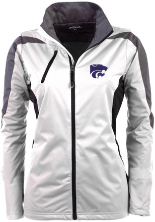 Antigua K-State Wildcats Womens White Discover Light Weight Jacket