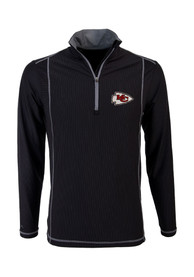 Kansas City Chiefs Antigua Tempo 1/4 Zip Pullover - Black