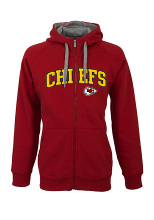 Antigua KC Chiefs Mens Red Victory Full Zip Jacket