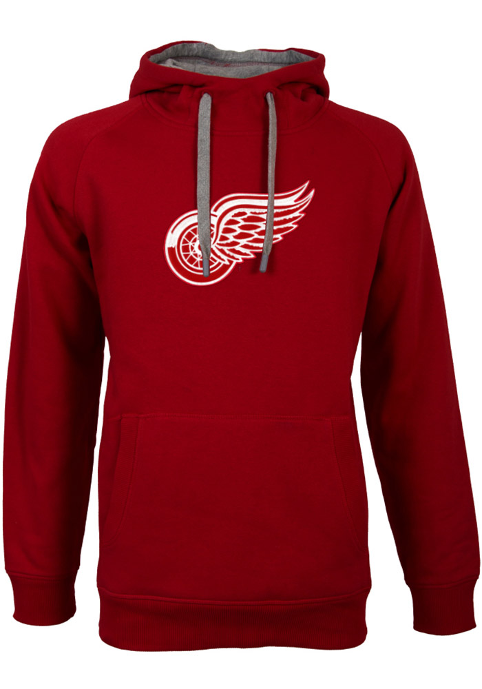 Antigua Detroit Red Wings Mens Red Victory Long Sleeve Hoodie - Image 1