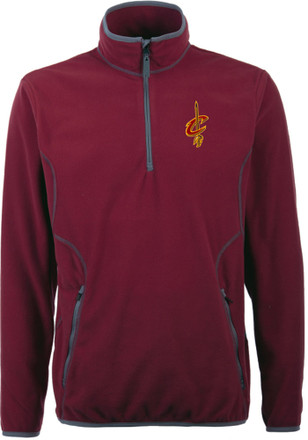 Antigua Cleveland Cavaliers Mens Red Ice 1/4 Zip Pullover