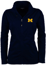 Antigua Michigan Wolverines Womens Navy Blue Discover Light Weight Jacket