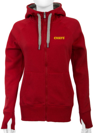 Antigua KC Chiefs Womens Red Victory Full Zip Jacket