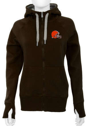 Antigua Cleveland Browns Womens Brown Victory Full Zip Jacket