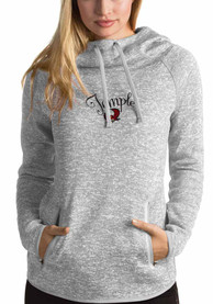 Antigua Temple Owls Womens Grey Recruit Hoodie
