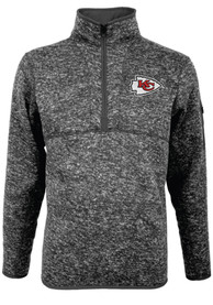 Kansas City Chiefs Antigua Fortune 1/4 Zip Pullover - Grey