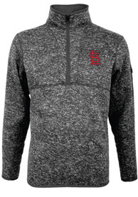 St Louis Cardinals Antigua Fortune 1/4 Zip Pullover - Grey