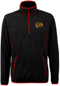 Antigua Chicago Blackhawks Black Ice 1/4 Zip Pullover
