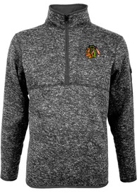 Chicago Blackhawks Antigua Fortune 1/4 Zip Pullover - Grey