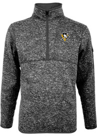 Pittsburgh Penguins Antigua Fortune 1/4 Zip Pullover - Grey
