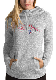 FC Dallas Womens Antigua Recruit Hooded Sweatshirt - Grey
