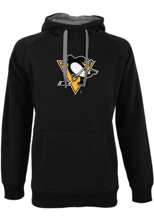 Antigua Pittsburgh Penguins Mens Black Victory Hoodie