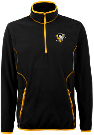 Antigua Pittsburgh Penguins Mens Black Ice 1/4 Zip Pullover