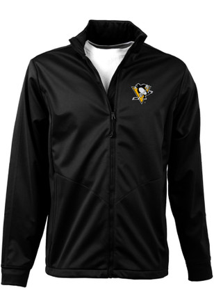 Antigua Pittsburgh Penguins Mens Black Golf Zip