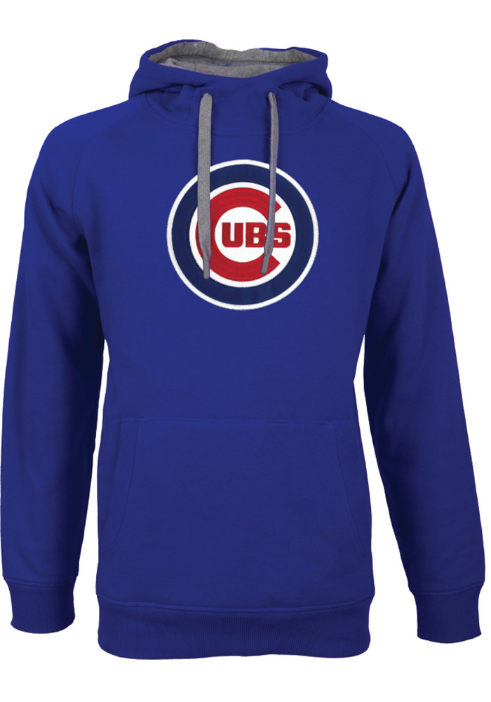 Chicago Cubs Antigua Victory Hooded Sweatshirt - Blue