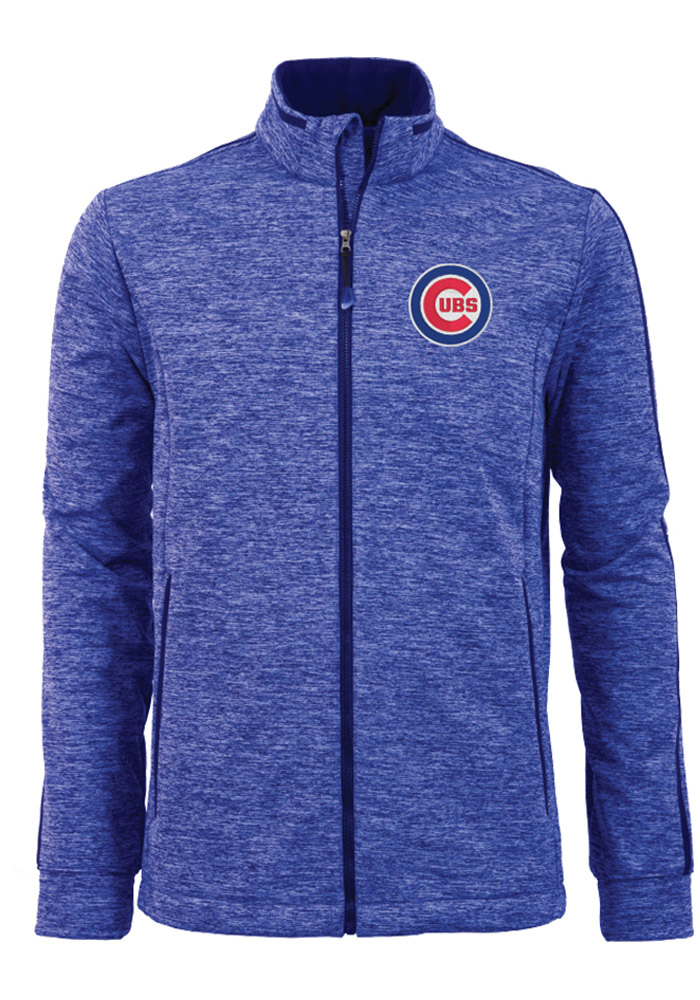 Antigua Chicago Cubs Mens Blue Golf Medium Weight Jacket - Image 1