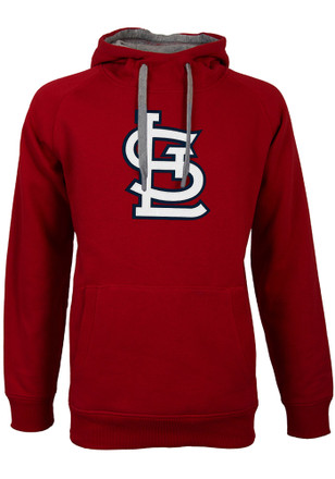 Antigua St Louis Cardinals Mens Red Victory Hoodie