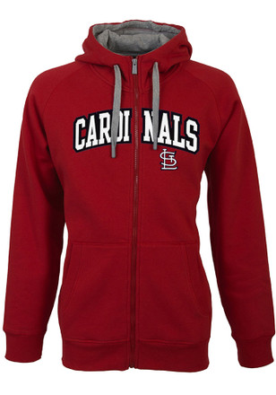 Antigua St Louis Cardinals Mens Red Victory Full Zip Jacket