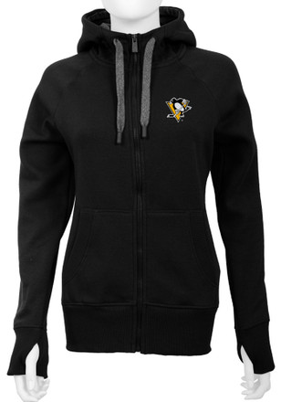 Antigua Pittsburgh Penguins Womens Black Victory Full Zip Jacket