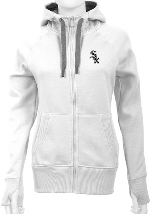 Antigua White Sox Womens White Victory Full Zip Jacket